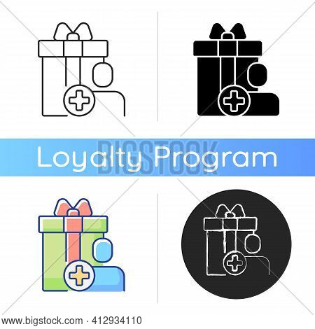 Purchase Bonus For Registering On Website Or Application Icon. Purchase Discounts And Cash Back. Gif