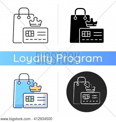 Vip Membership Icon. Loyalty Card Program. Discount Offers And Sell Products. Privileges And Purchas