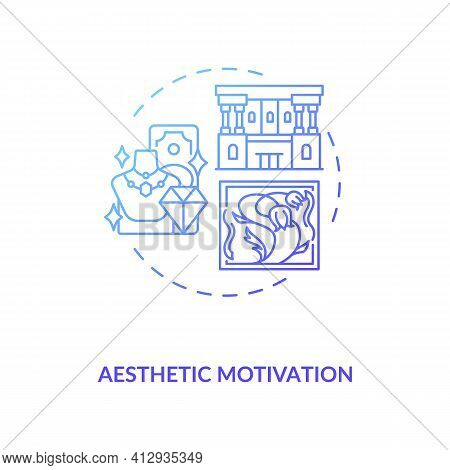Aesthetic Motivation Concept Icon. Inspiring For Actions Idea Thin Line Illustration. Personal Inter