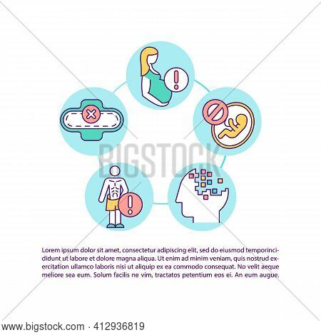 Precautions For Taking Diet Concept Icon With Text. Pregnancy And Amenorrhea. Eating Disorder. Ppt P