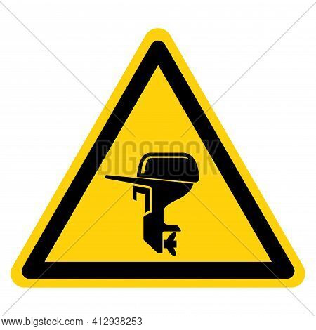 Outboard Motor Symbol Sign,vector Illustration, Isolate On White Background Label. Eps10