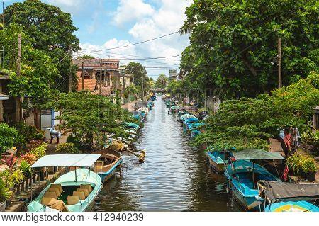 Hamilton Canal, Aka Dutch Canal, In Negombo, Sri Lanka, Connecting Puttalam To Colombo