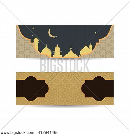 Traditional Islamic Design. Mosque Decoration Element. Elegance Background With Text Input Area In A