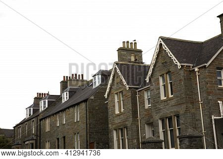 Kirkwall - Orkney (scotland), Uk - August 06, 2018: A Typical House In Kirkwall, Orkney, Scotland, H