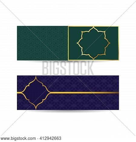Set Of Islamic Design Banners With Pattern. Illustration Vector Graphic Of Template To Welcome Ramad