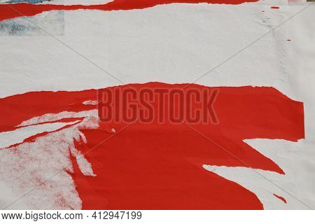 Different Creased Torn Paper Posters As Background