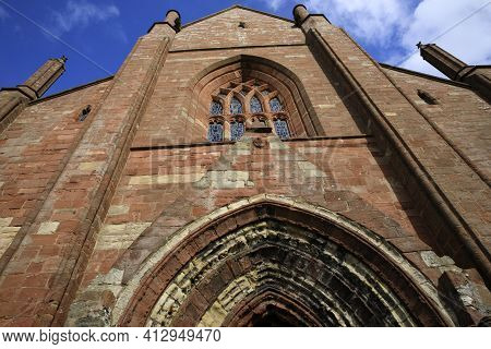 Kirkwall - Orkney (scotland), Uk - August 07, 2018: 12th Century Romanesque Saint Magnus Cathedral I