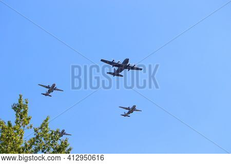 Katowice, Poland - August 15, 2019: Air Show For Armed Forces Day In Katowice, Poland. Lockheed C-13