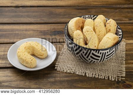 Chipas, Typical South American Cheese Bun In A Bowl.