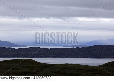 Trotternish - Skye Island (scotland), Uk - August 13, 2018: The Landscape From Old Man Of Storr, Tro