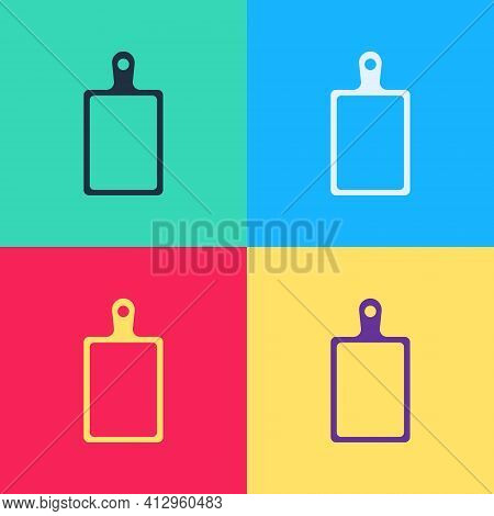 Pop Art Cutting Board Icon Isolated On Color Background. Chopping Board Symbol. Vector