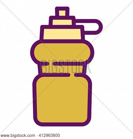 Sport Nutrition Bottle Icon. Outline Sport Nutrition Bottle Vector Icon For Web Design Isolated On W
