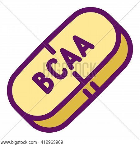 Sport Nutrition Bcaa Capsule Icon. Outline Sport Nutrition Bcaa Capsule Vector Icon For Web Design I