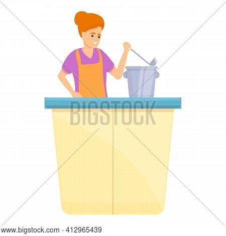 Weekend Food Volunteer Icon. Cartoon Of Weekend Food Volunteer Vector Icon For Web Design Isolated O