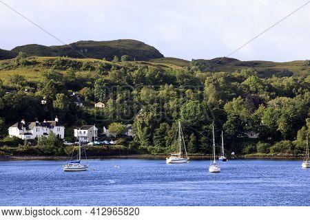 Loch Nell (scotland), Uk - August 15, 2018: Loch Nell, Scotland, United Kingdom