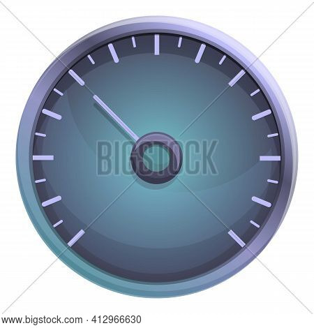 Car Race Speedometer Icon. Cartoon Of Car Race Speedometer Vector Icon For Web Design Isolated On Wh