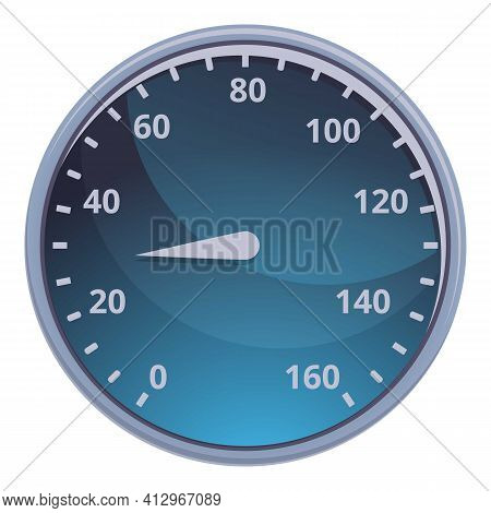 Car Mile Dashboard Icon. Cartoon Of Car Mile Dashboard Vector Icon For Web Design Isolated On White