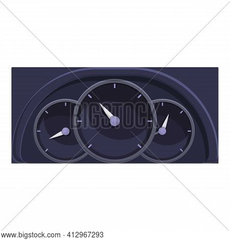 Car Dashboard Panel Icon. Cartoon Of Car Dashboard Panel Vector Icon For Web Design Isolated On Whit