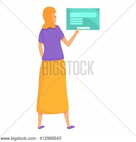 Digital Interaction Icon. Cartoon Of Digital Interaction Vector Icon For Web Design Isolated On Whit