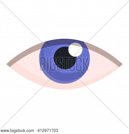 Eye Organ Sense Icon. Cartoon Of Eye Organ Sense Vector Icon For Web Design Isolated On White Backgr