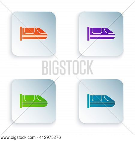 Color High-speed Train Icon Isolated On White Background. Railroad Travel And Railway Tourism. Subwa