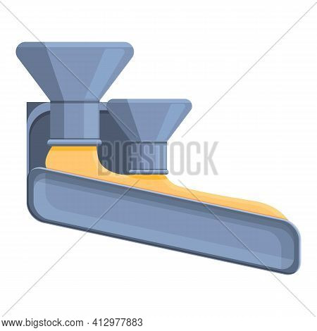 Pouring Cheese Icon. Cartoon Of Pouring Cheese Vector Icon For Web Design Isolated On White Backgrou