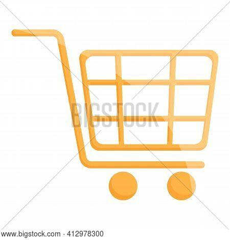 Marketing Mix Shop Cart Icon. Cartoon Of Marketing Mix Shop Cart Vector Icon For Web Design Isolated