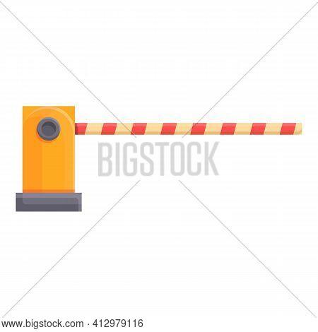 Railroad Barrier Control Icon. Cartoon Of Railroad Barrier Control Vector Icon For Web Design Isolat