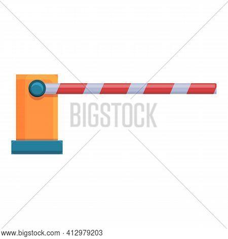 Railroad Barrier Element Icon. Cartoon Of Railroad Barrier Element Vector Icon For Web Design Isolat