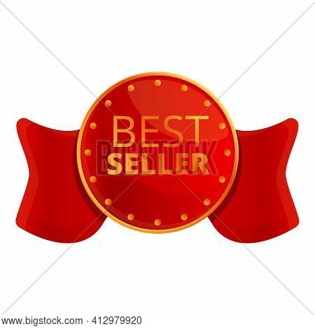 Best Seller Icon. Cartoon Of Best Seller Vector Icon For Web Design Isolated On White Background