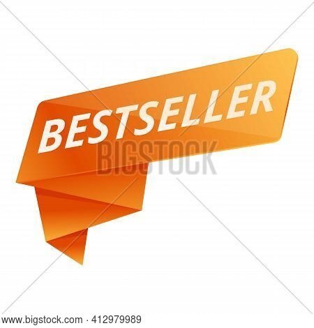 Best Seller Ribbon Icon. Cartoon Of Best Seller Ribbon Vector Icon For Web Design Isolated On White