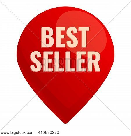 Best Seller Tag Icon. Cartoon Of Best Seller Tag Vector Icon For Web Design Isolated On White Backgr