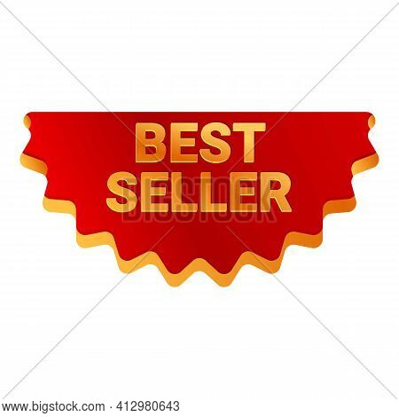 Best Seller Button Icon. Cartoon Of Best Seller Button Vector Icon For Web Design Isolated On White
