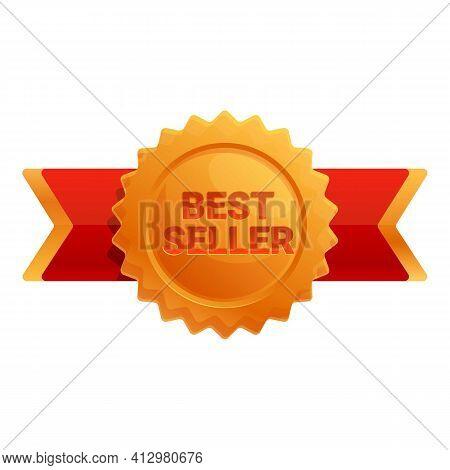 Best Seller Medal Icon. Cartoon Of Best Seller Medal Vector Icon For Web Design Isolated On White Ba