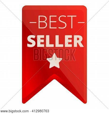 Best Seller Star Design Icon. Cartoon Of Best Seller Star Design Vector Icon For Web Design Isolated