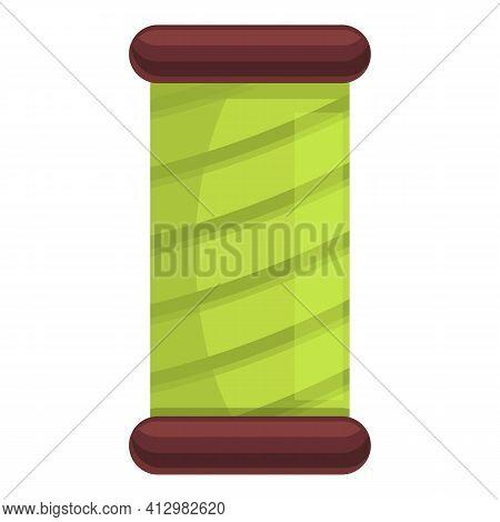 Thread Bobine Icon. Cartoon Of Thread Bobine Vector Icon For Web Design Isolated On White Background