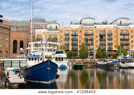 St Katharine Dock. London, England