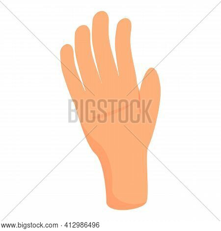 All Fingers Hand Gesture Icon. Cartoon Of All Fingers Hand Gesture Vector Icon For Web Design Isolat
