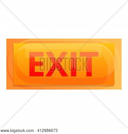 Exit Button Interface Icon. Cartoon Of Exit Button Interface Vector Icon For Web Design Isolated On