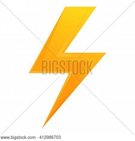 Thunderbolt Button Interface Icon. Cartoon Of Thunderbolt Button Interface Vector Icon For Web Desig