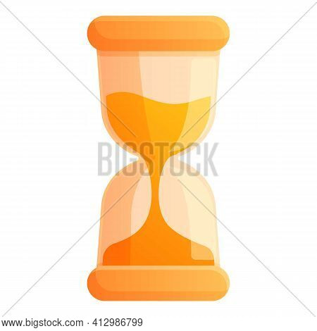 Hourglass Interface Icon. Cartoon Of Hourglass Interface Vector Icon For Web Design Isolated On Whit