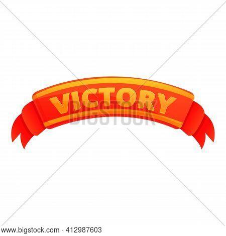 Victory Ribbon Interface Icon. Cartoon Of Victory Ribbon Interface Vector Icon For Web Design Isolat