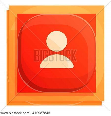 Avatar Interface Button Icon. Cartoon Of Avatar Interface Button Vector Icon For Web Design Isolated
