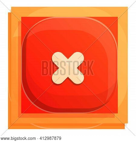 Rejected Interface Button Icon. Cartoon Of Rejected Interface Button Vector Icon For Web Design Isol