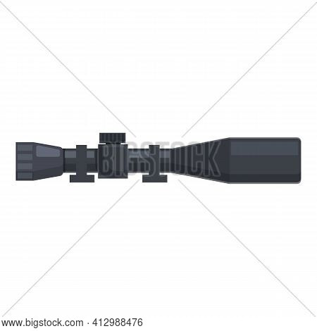 Army Telescopic Sight Icon. Cartoon Of Army Telescopic Sight Vector Icon For Web Design Isolated On