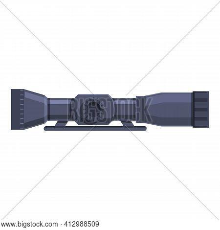 Sniper Binocular Icon. Cartoon Of Sniper Binocular Vector Icon For Web Design Isolated On White Back