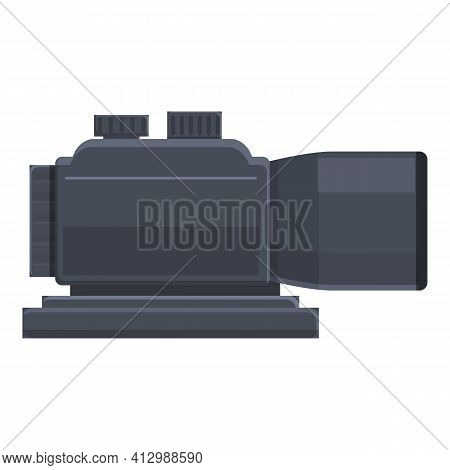 Weapon Telescopic Sight Icon. Cartoon Of Weapon Telescopic Sight Vector Icon For Web Design Isolated