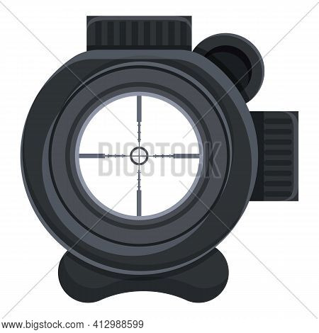 Sniper Scope Icon. Cartoon Of Sniper Scope Vector Icon For Web Design Isolated On White Background