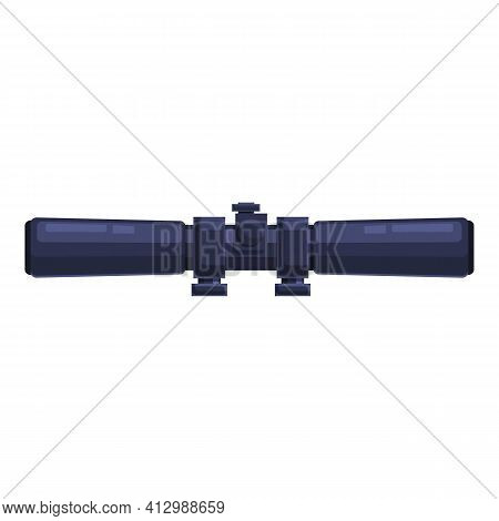 Sight Optic Scope Icon. Cartoon Of Sight Optic Scope Vector Icon For Web Design Isolated On White Ba