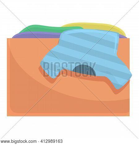 Clothes Carton Box Donation Icon. Cartoon Of Clothes Carton Box Donation Vector Icon For Web Design